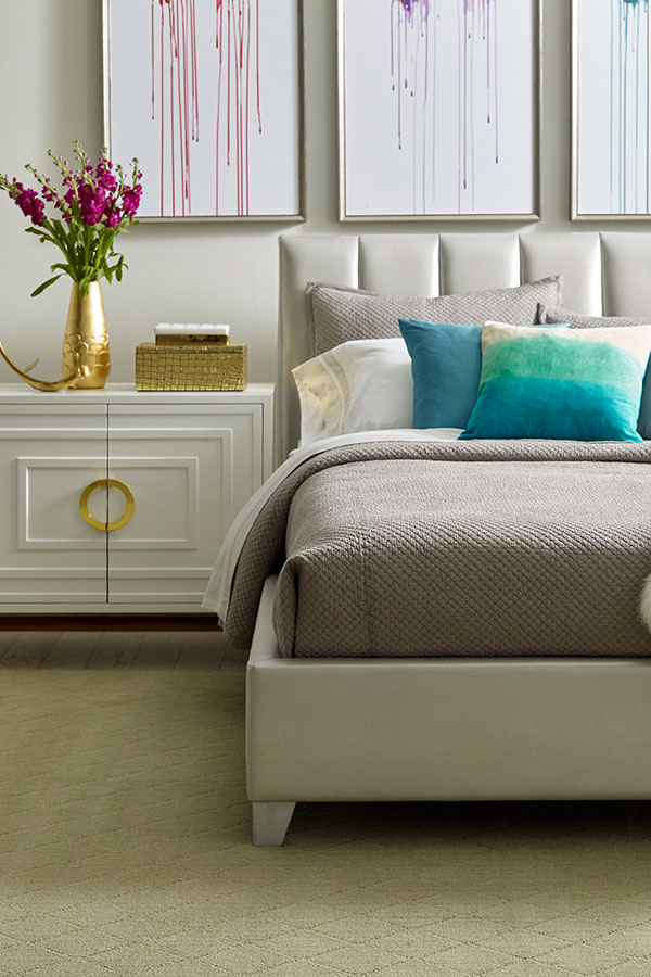 Serene bedroom with pastels