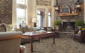 farmhouse style in living room