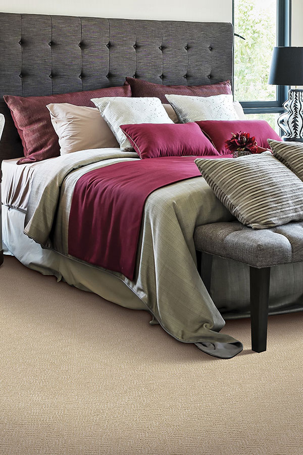 Bedroom with Burgundy Accent Colors