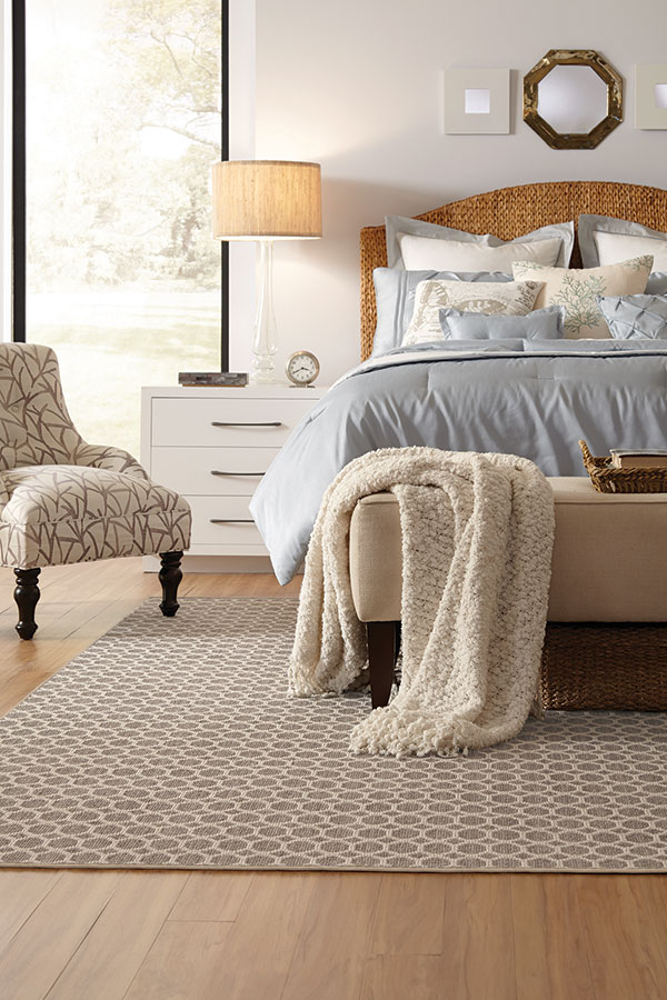 Bedroom with Textured Accent Pieces