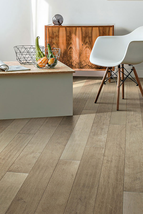natural wood floors with wood accent furniture