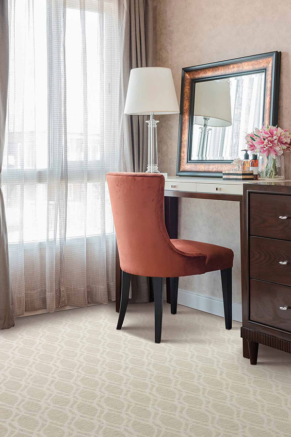 Room with a living coral accent piece