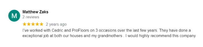 Profloors & Cabinets Review